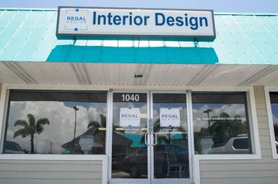 Regal Design  Studio located in Commercial Plaza on Jensen Beach Blvd.
